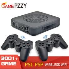 المحمولة واي فاي لعبة فيديو وحدة التحكم دعم HDMI الناتج ريترو لعبة وحدة التحكم المدمج في 3000 ألعاب 100 ألعاب ثلاثية الأبعاد ل PS1/PSP