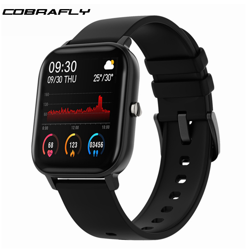 Cobrafly P8 Smart Watch Men Women 1.4inch Full Touch Fitness Tracker Heart Rate <font><b>Monitoring</b></font> Sports Watches GTS for Xiaomi Huawei image