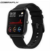 Reloj inteligente cobrawell P8 para hombre y mujer, 1,4 pulgadas, monitor de ritmo cardíaco, monitor de ritmo cardíaco, relojes deportivos GTS para Xiaomi Huawei