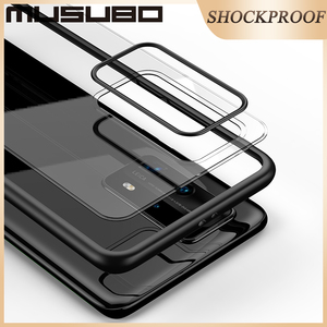 Image 3 - Musubo 超薄型ケース huawei 社 P40 プロ耐衝撃ケースカバー高級フルバックケース P40Pro 透明なシリコーン透明