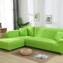1 PCS Solid Color Elastic Sofa Cover Spandex Modern Polyester Corner Couch Slipcover Chair Protector Living Room 4 Seater