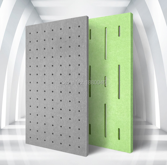 1box 10pcs  Eco-friendly  sound absorber Perforated Polyester Material acoustic panels acoustic treatment wall panels