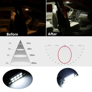 Image 4 - 10pc Canbus Car LED Bulbs For Nissan Qashqai J10 J11 2007 2018 Led Interior Light Reading Map Dome Light Kit