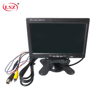 LSZ 7 cal monitor samochodowy 12 V 24 V szeroki zakres napięcia projekt PAL/NTSC/Auto system przyczepy/duży statek/ciężarówka w Monitory i wyświetlacze do telewizji przemysłowej od Bezpieczeństwo i ochrona na