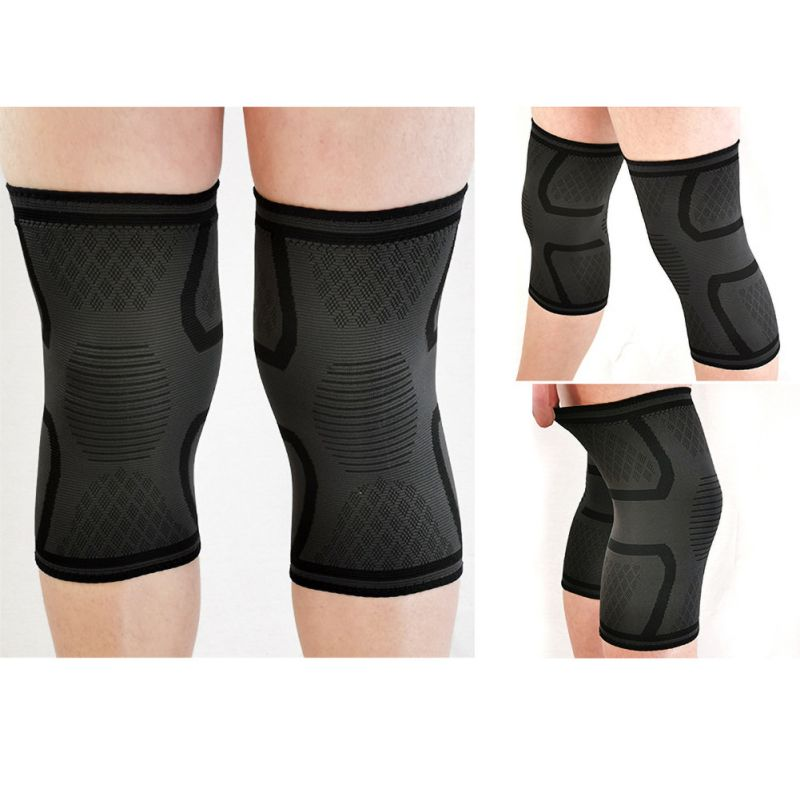 Sports Kneepad Men Pressurized Elastic Knee Pads Support Fitness Gear Breathable Basketball Volleyball Knee Protect 1pcs   #F