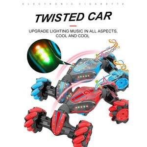 GW124 2,4 Ghz RC внедорожный трюк автомобиль амфибия автомобиль с часами дистанционного управления индукции для детей игрушки подарки