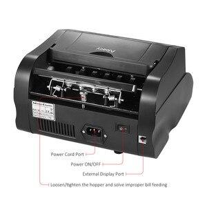 Image 4 - Aibecy Multi Cash Money Bill Contador de Notas da Moeda Máquina de Contagem Automática IR/DD Detecção Display LCD para EUA dólar Euro