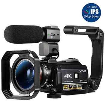 Videocámara 4K Ordro AC3 24FPS 30X Zoom Digital visión nocturna WiFi Camara Filmadora Vlog Cámara