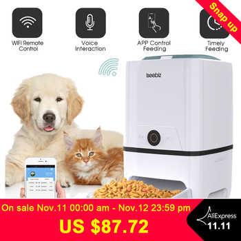 Iseebiz automatyczny karmnik dla psa z WiFi dozownik karmy dla zwierząt 6 posiłków dyktafon i Timer programowalna kontrola porcji - DISCOUNT ITEM  31 OFF All Category