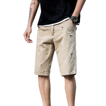 New Mens Casual Shorts Khaki Five Point Work Shorts Summer UnionbayCargo Shorts Beach Shorts Male Cotton Shorts Size 36 38 2812