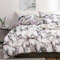 Горячая Постельное бельё Мрамор без узора; однотонное стеганое одеяло для простыней на кровать тремя 4-х частей Постельное белье