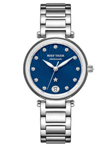 Glass Tiger/rt Watches Bracelet Automatic-Watch Women Luxury Brand for Blue Dial-Steel