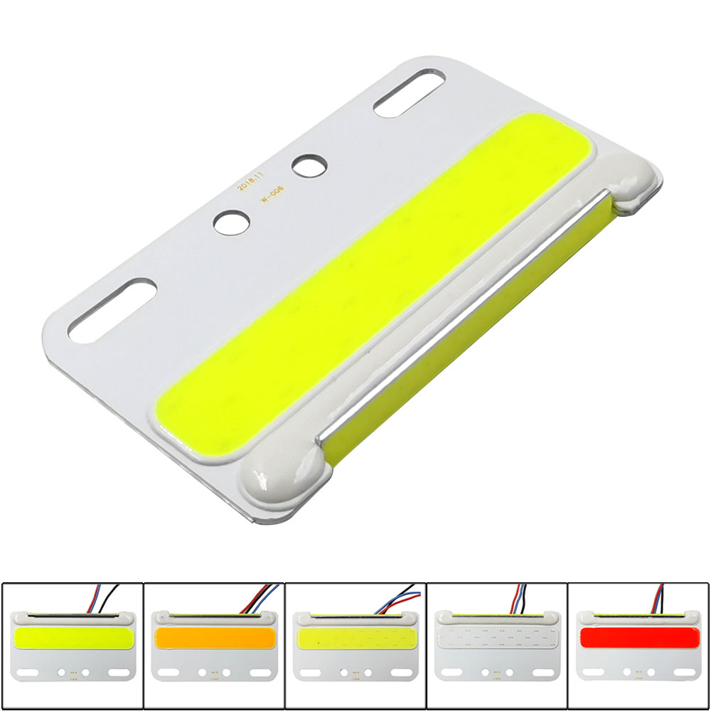 12V COB Sidelights Car Turn Lamp Signal Decoration LED Side Lights Double Color Tire Bulb Night Running Lighting White Yellow