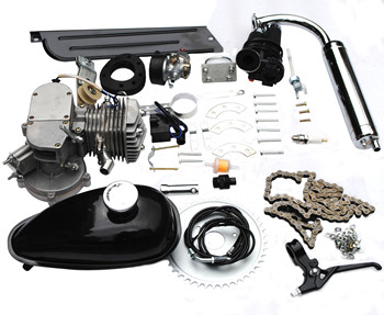 Motorized Bike Engine Petrol Gas 50CC 60CC 80cc 2-Stroke Black Bicycle Motor Kits