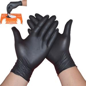 Image 1 - 100 יח\קופסא Nitrile כפפות עמיד למים חד פעמי עבור קעקוע רופא שיניים מזון תהליך ניקוי ידיים הגנה לעבוד כפפות