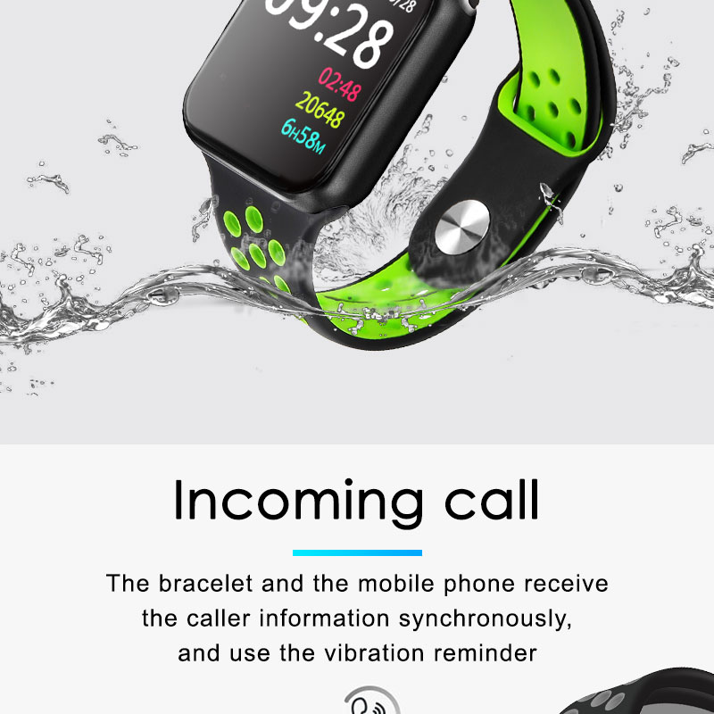 F9 s PK iwo8 b57 Touch Screen smart watches to Monitor Heart rate and Blood pressure Supported for IOS Android for men women 18