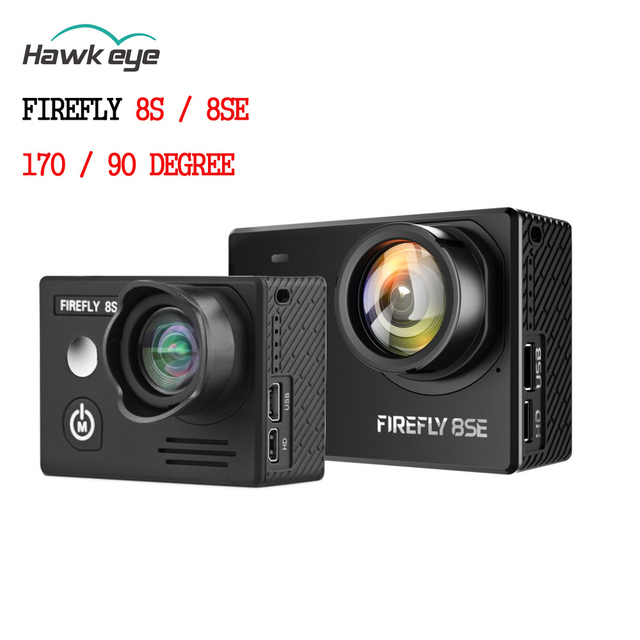 Hawkeye Firefly 8se / 8s 4k 90 Degree / 170 Degree Screen Wifi Fpv Action Camera Sports Cam Recording For Shooting Drone Part