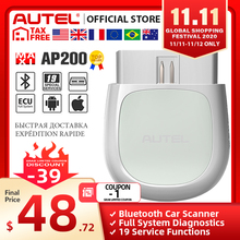 Autel AP200 Bluetooth OBD2 сканер Automotivo OBD 2 TPMS считыватель кодов автомобиля диагностический инструмент PK Thinkcar Thinkdiag CR3001 Easydiag