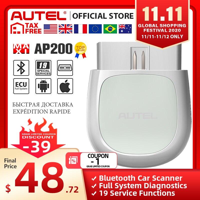 Autel AP200 Bluetooth OBD2 Scanner Automotivo OBD 2 TPMS Code Reader Car Diagnostic Tool PK Thinkcar Thinkdiag Easydiag|Code Readers & Scan Tools| - AliExpress