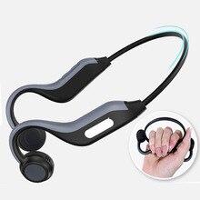 B1 אלחוטי Bluetooth אוזניות 5.0 אוזניות הולכה עצם חיצוני ספורט אוזניות עם מיקרופון דיבורית אוזניות 8G זיכרון