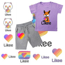 Likee app boys girls clothing set kid boy girl clothes new summer