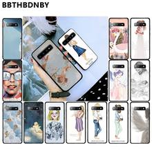 Phone Case Baby Mom Girls TPU black Phone Case Cover Shell for Samsung S10 S9 plus S6 edge plus S7edge S8plus S10 plus(China)