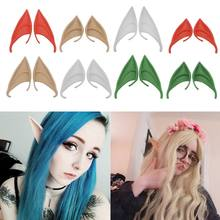 1 paar Halloween Party Elven Elf Oren Anime Fairy Cospaly Kostuums Vampire Latex(China)