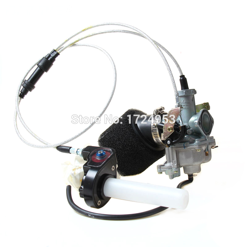 30mm PZ30 IRBIS TTR250 Tuning Tuned Power Jet Accelerating Pump Carburetor + Visiable throttle handle + Dual Cable + Air filter image