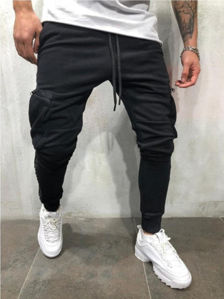 2020 HOT Men Pants Casual Harem Pants Men Joggers Streetwear Joggers Men Hip Hop Rivet Pants Fashion Pants