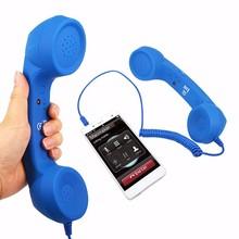 높은 품질 레트로 클래식 컴포트 전화 핸드셋 3.5mm 미니 마이크 스피커 전화 수신기 아이폰 삼성 화웨이