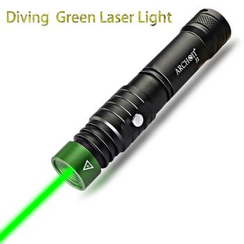 ARCHON J1 100m wskaźnik laserowy do nurkowania zielone wskaźniki laserowe latarka potężna Led taktyczna laserowa latarka 18650 bateria opcjonalnie tanie i dobre opinie CN (pochodzenie) Bez regulacji 100-200 m Pojedynczego pliku ARCHON Laser for diving and various purposes 1000 Aluminium