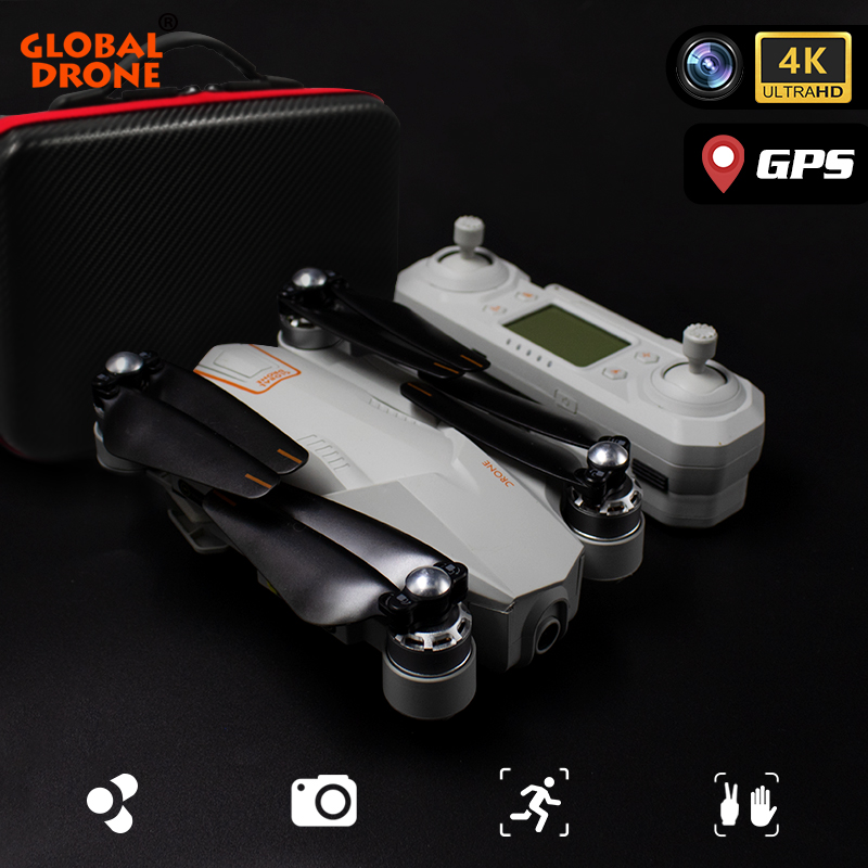 Dron 4K GPS Quadrocopter Drone With Camera HD Wide Angle Follow Me WiFi Quadcopter RC FPV Professional Dron VS F11 E520S SG907
