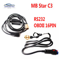 OBDII MB Star C3 RS232 RS485 Cable for C3 Diagnosis Multiplexer For Benz MB Star C3 OBD2 16PIN OBD II 16 Pin connect mian test|Electrical Testers & Test Leads| |  -