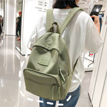 2019 Fashion Nylon Backpack Young Women Laptop Backpack Korean Style School Bag  Casual Travel Bag Backpacks For Teenage Girls fashion nylon women backpack waterproof material solid casual backpack daily girl school bag brand backpacks for teenage girls