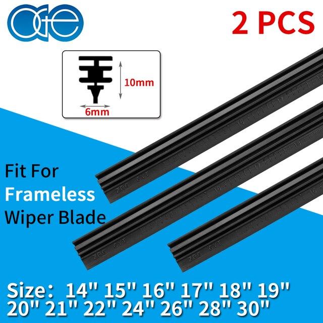 "2PCS Car Vehicle Insert Natural Rubber Car Wiper Blade Strip 6mm 14""16""17""18""19""20""21""22""24""26""28""30""Frameless Wiper Accessories"