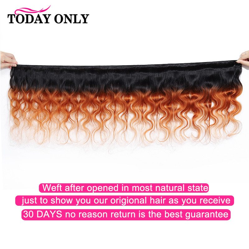 TODAY ONLY Peruvian Hair Bundles With Closure Ombre Body Wave Bundles With Closure Remy Human Hair Bundles With Closure 1b 30-in 3/4 Bundles with Closure from Hair Extensions & Wigs    2
