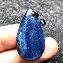 Top Natural Blue Kyanite Beads Pendant For Woman Man Crystal 32x18x5mm Cat Eye Gemstone Crystal Water Drop Necklace Pendant AAAA(China)
