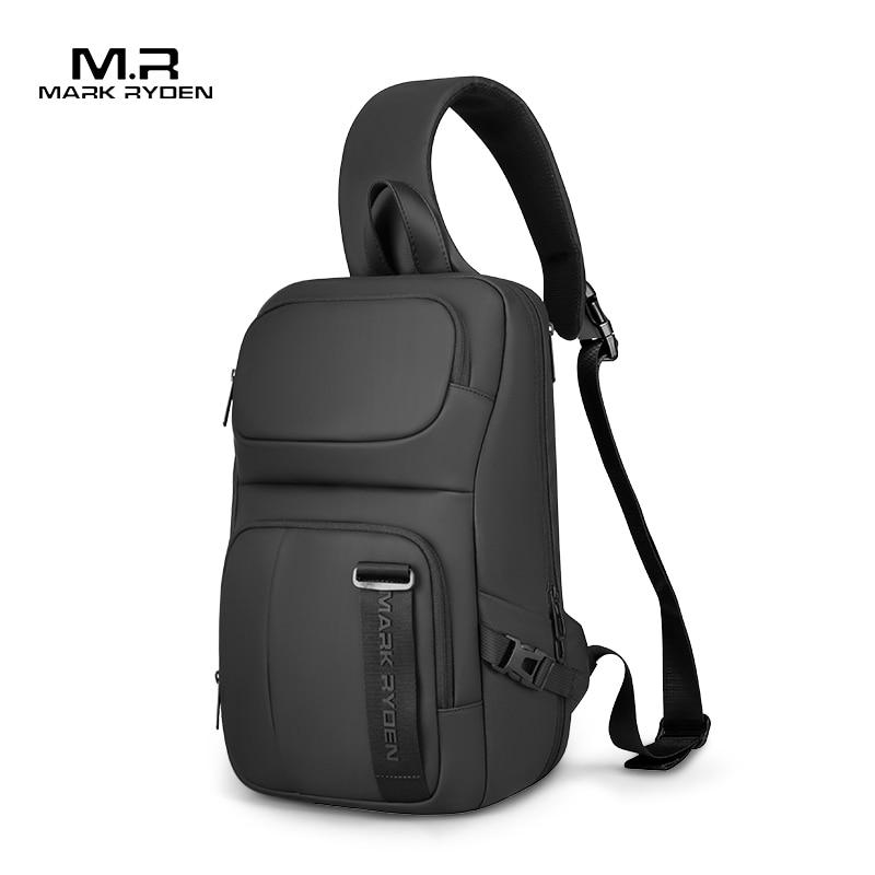 """MARK RYDEN – sac à bandoulière pour Pad 13.8 """", sacoche Anti-vol RFID, sac à épaule hydrofuge pour court voyage, sac de poitrine pour hommes"""