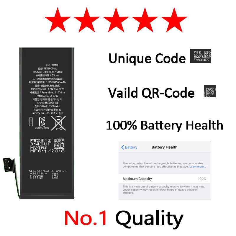 Image 2 - Zosol AAAAA Quality Original Lithium Battery For iPhone 5S Genuine Replacement Batteries Internal Phone Bateria 1560mAh 5C-in Mobile Phone Batteries from Cellphones & Telecommunications