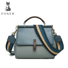 FOXER Genuine Lether Female Handbag Fall Winter Bag Large Capacity Office Women