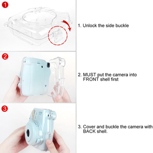 Image 5 - 스트랩 투명 경량 카메라 케이스 안티 충격 쉬운 적용 커버 방진 보호 실용 instax 미니 8 9