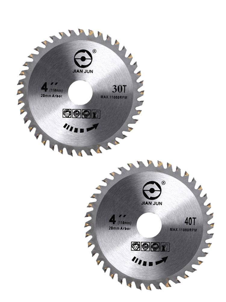 4-Inch 30T 40T Circular Saw Blade Wooden Material Cutting Disc For Carbide Steel Circular Saw Blades Grinder Cutting Machines