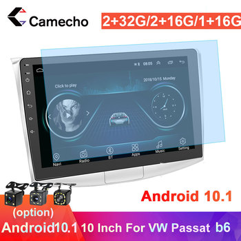 Camecho 2Din Android 10.1 Car Radio GPS Multimedia Player Stereo For VW Skoda Seat Golf Polo Tiguan Passat b6 Octavia Autoradio image