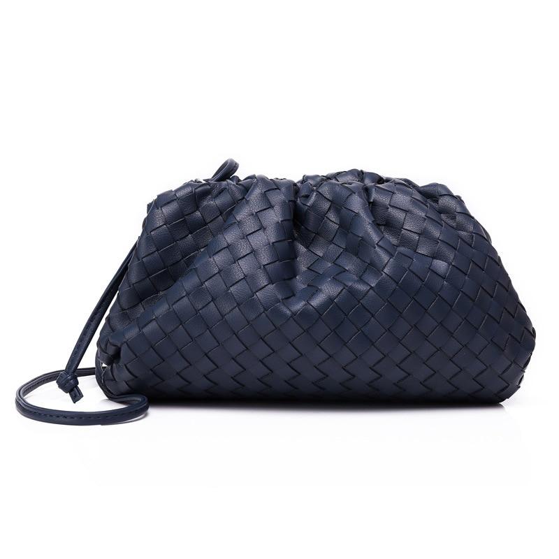 Saco de tricô de luxo das mulheres saco de envelope tecido de couro real design volumoso forma arredondada bolsas e bolsas embreagem louis marca - 4