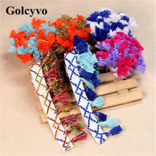 1Meter Colorful Cotton Tassels Lace Trims Edge Skirt Colthing DIY Sewing Crafts Charms 4.8cm Width