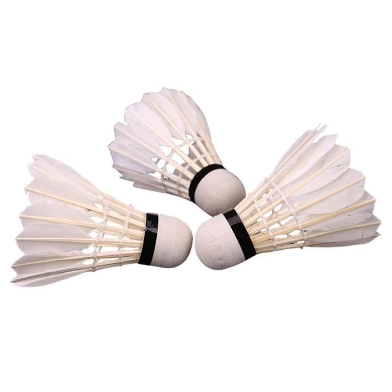 3 Pcs  Shuttlecock Skillful Manufacture 3pcs/lot Goose Feather Badminton Shuttlecocks Durable Training Badminton Balls