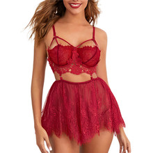 Women Sexy Lace Lingerie Exotic Sets Babydoll G-String Thong