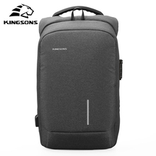 Купить с кэшбэком Kingsons External USB Anti-theft Charging Waterproof Laptop Backpack for Men and Women Business Travel Computer Bag Notebook