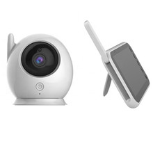 Ainhyzic 업데이트 베이비 카메라 모니터 야간 2.4Ghz 무선 전송 2 온도 센서