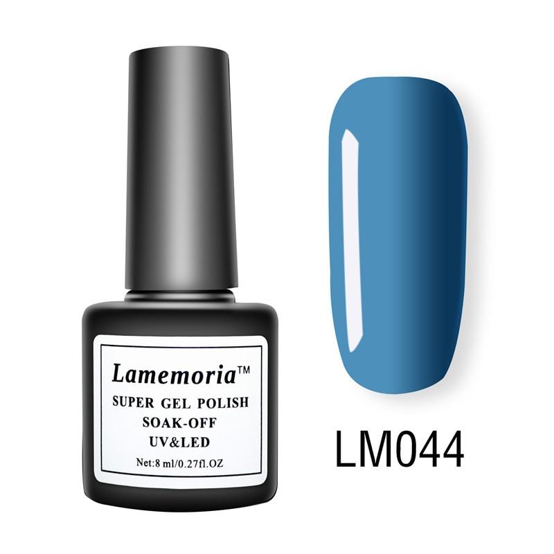 Hot 8ML Lucky Gel Nail Polish 56 Pure Colors Red Blue Green Long Lasting Hybrid Nail Gel Lacquer Gel Polish Nail DIY Free Shipin in Nail Gel from Beauty Health